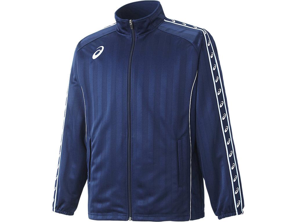 ウオームアップジャケット:ネイビーブルー