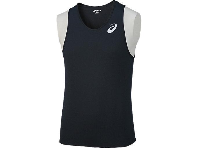 Alternative image view of メンズランニングシャツ, ブラック