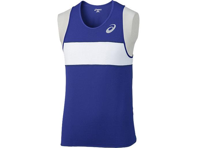 Alternative image view of メンズランニングシャツ, ブルー