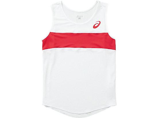 W'Sランニングシャツ, ホワイトxレッド