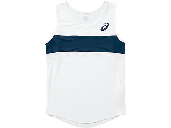W'Sランニングシャツ, ホワイト×ネイビー