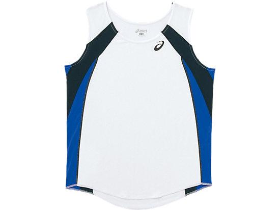 W'Sランニングシャツ, ホワイトxブルー