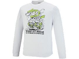 長袖プリントTシャツ