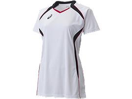 W'SゲームシャツHS, ホワイトxブラック