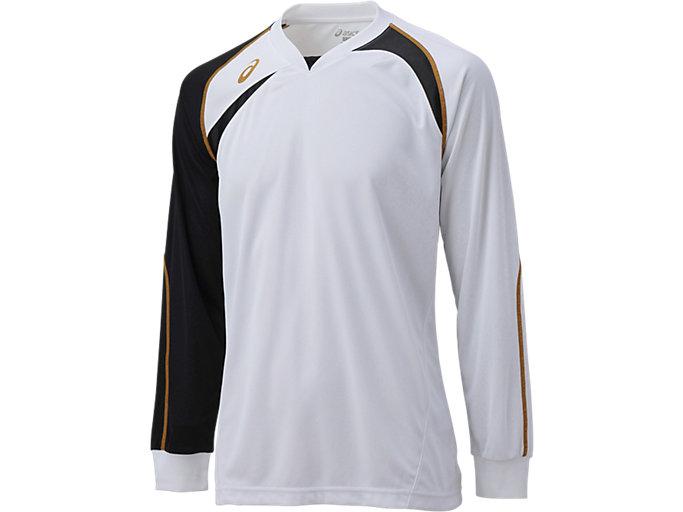 ゲームシャツ ロングスリーブ, ホワイトXブラック