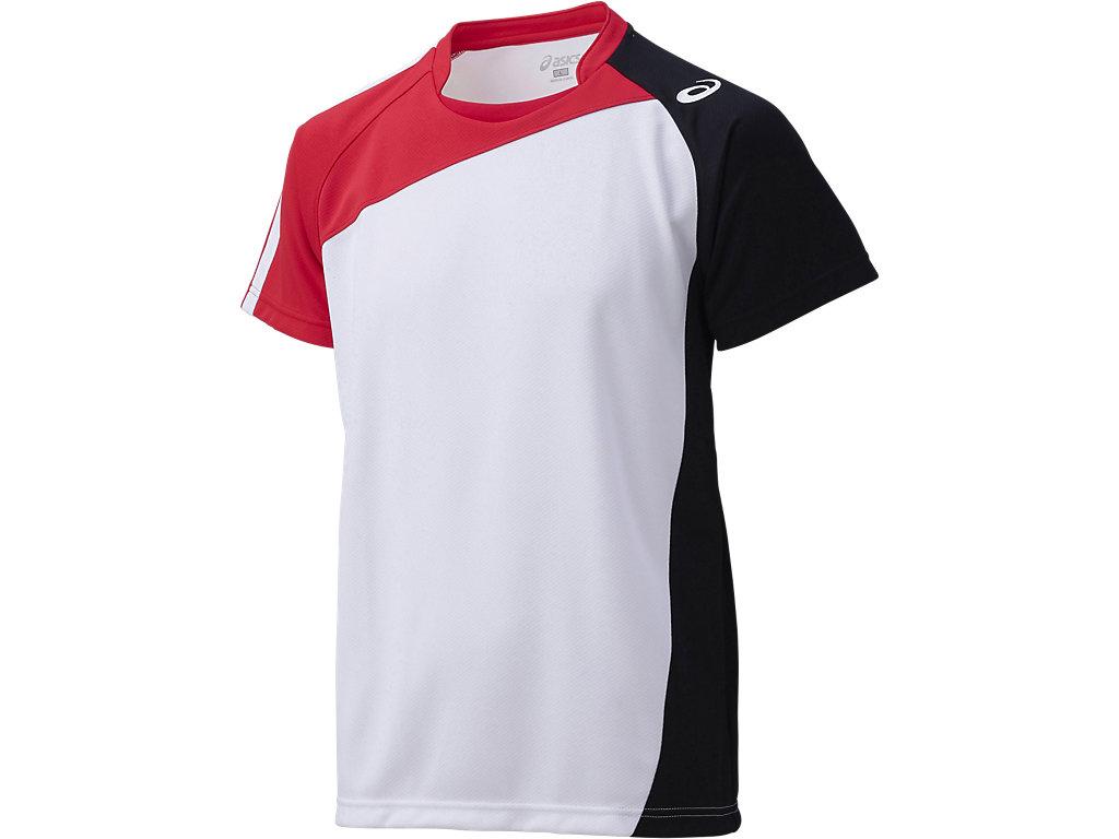 ゲームシャツHS:ホワイト×Vレッド