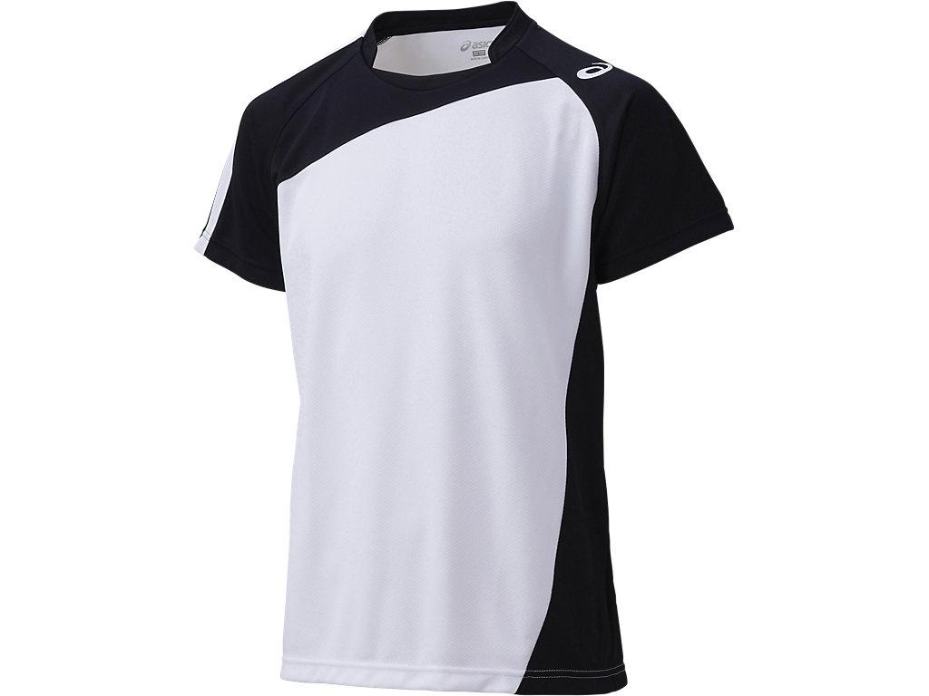 ゲームシャツHS:ホワイト×ブラック