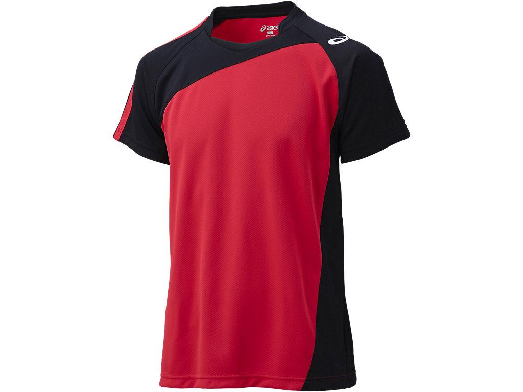 ゲームシャツHS:Vレッド×ブラック