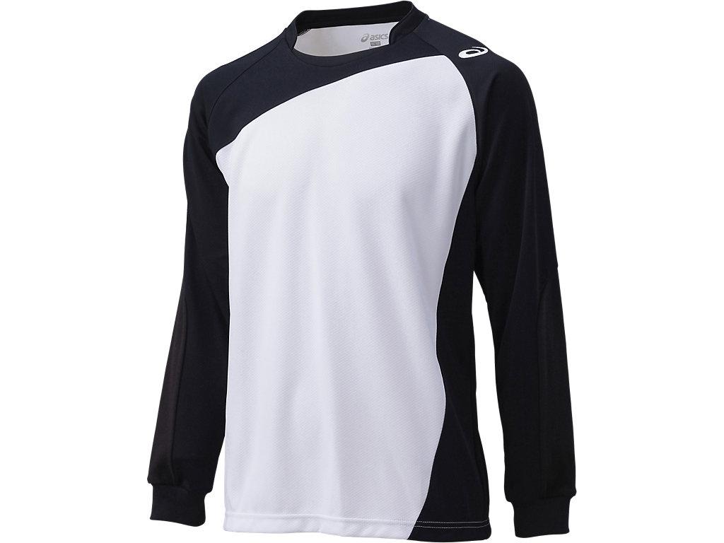 ゲームシャツLS:ホワイト×ブラック