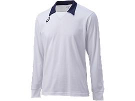 ゲームシャツLS, ホワイト×ネイビー