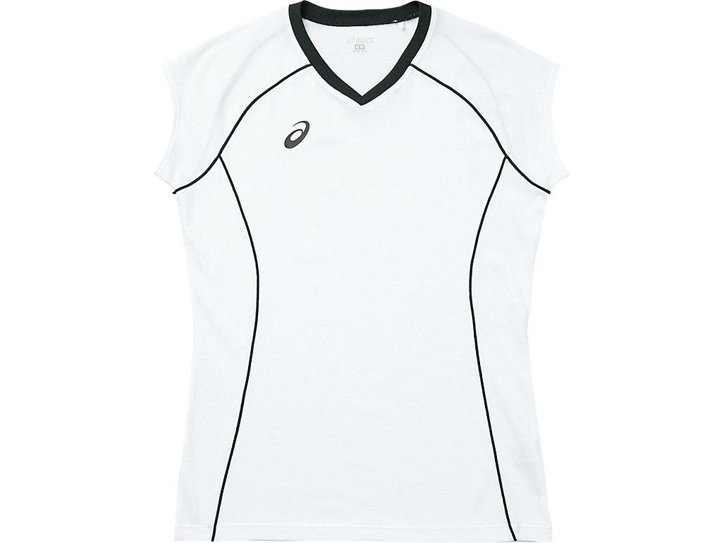 W'SプラシャツFS:ホワイト×ブラック