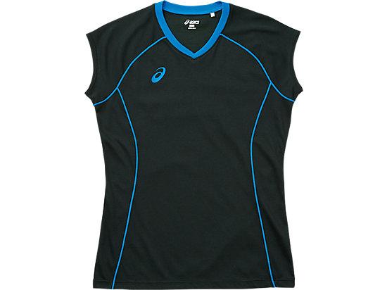 W'SプラシャツFS, ブラック×コバルトブルー
