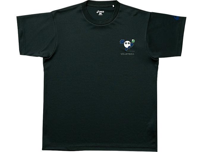 バボちゃんプリントTシャツHS, ブラックxJブル
