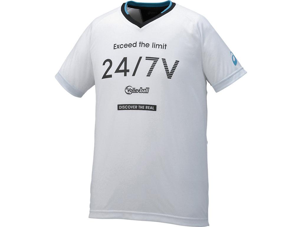 プラシャツHS:ホワイト