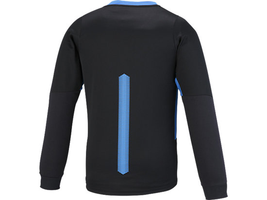 男式排球长袖T恤 黑色/蓝色