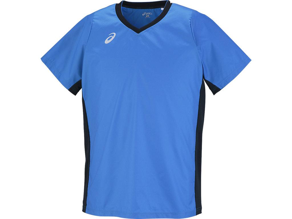 半袖ウオームアップシャツ:ディレクトワールブルー