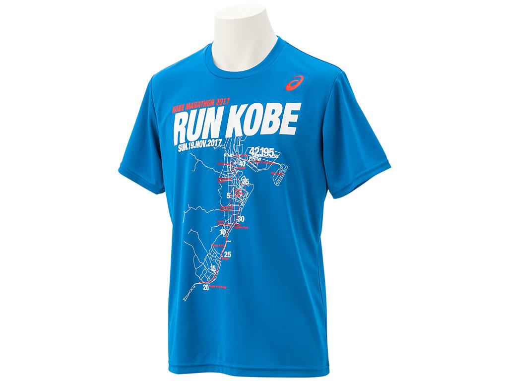 【ASICS/アシックス】 神戸マラソン2017Tシャツ ディレクトワールブルーA_XX175X