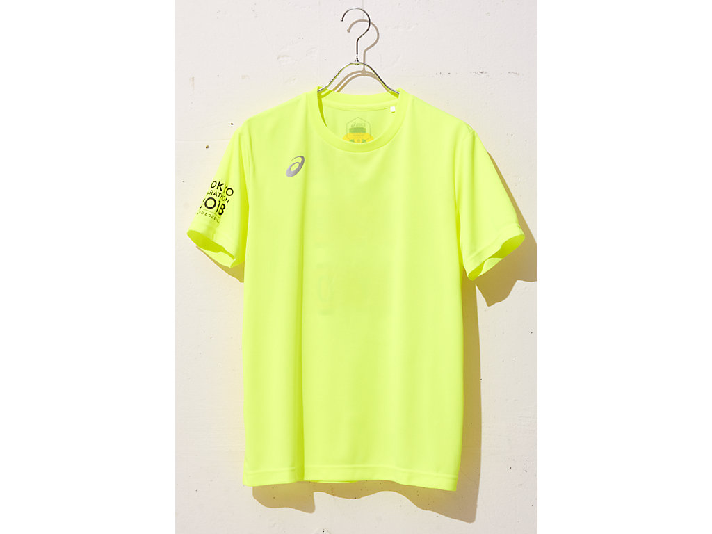 RUNNING GRAPHIC TEE:フラッシュイエローA