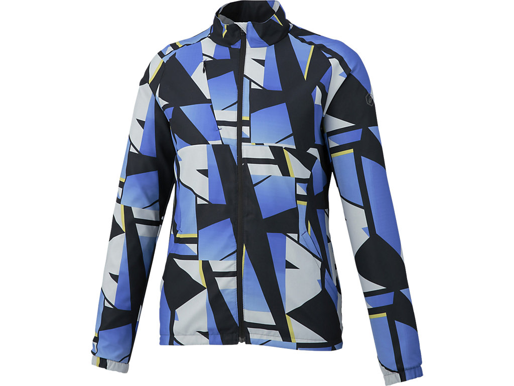 W'Sランニングプリントウインドジャケット:シャターブルーパープル