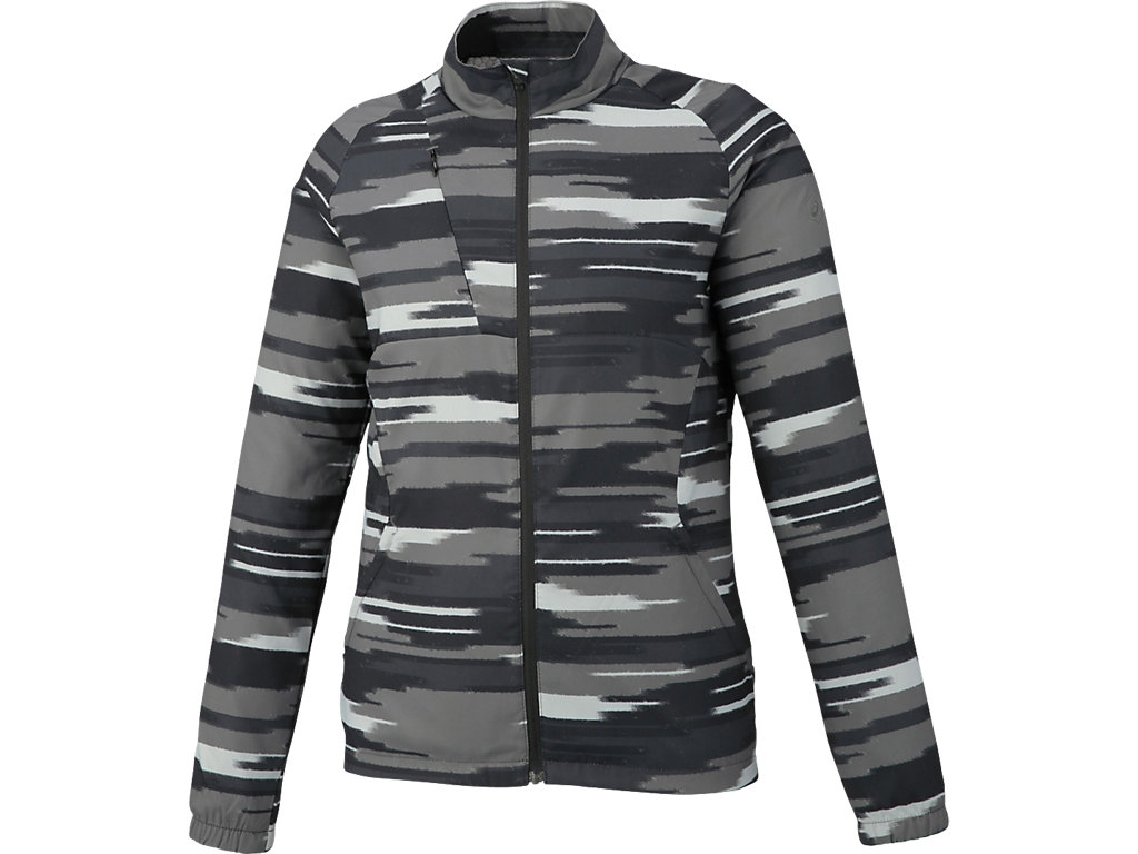W'Sランニングプリントウインドジャケット:インパルスダークグレー