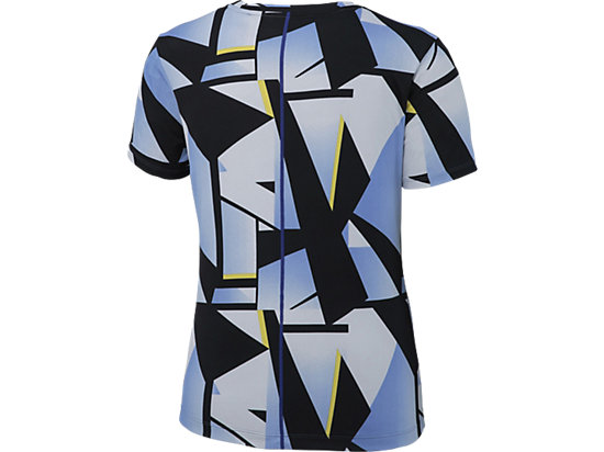 W'S RUNNING PRINT T SHIRT BLUE PURPLE