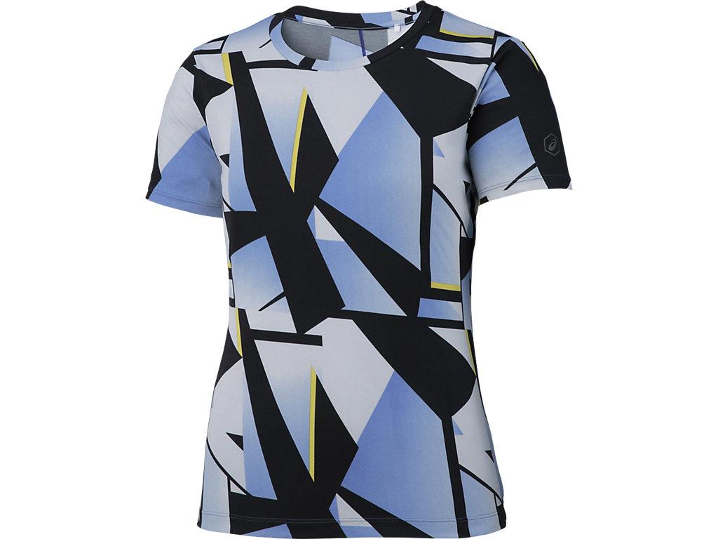 【ASICS/アシックス】 W'SランニングプリントTシャツ シャターブルーパープル レディース_XXL579
