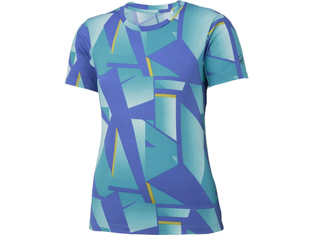 【ASICS/アシックス】 W'SランニングプリントTシャツ シャターアークティックアクア レディース_XXL579