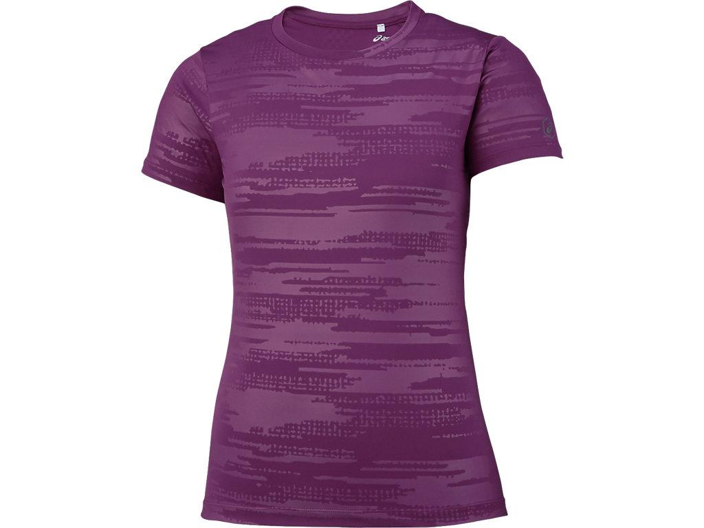 【ASICS/アシックス】 W'SランニングTシャツ プルーン レディース_XXL580