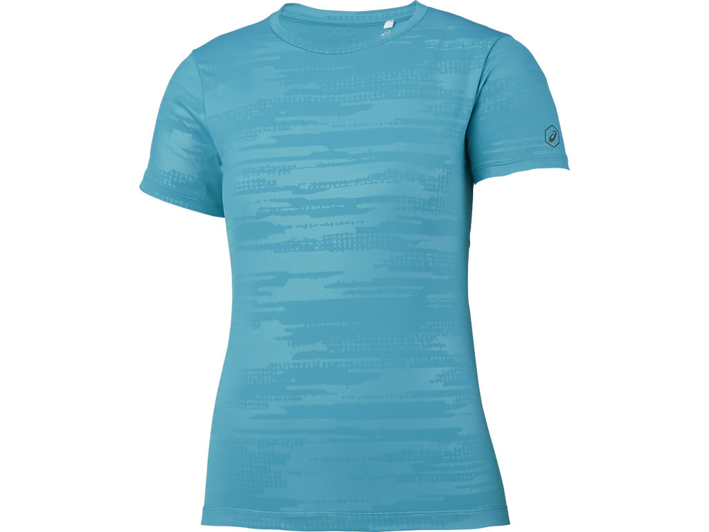 【ASICS/アシックス】 W'SランニングTシャツ アークティックアクア レディース_XXL580