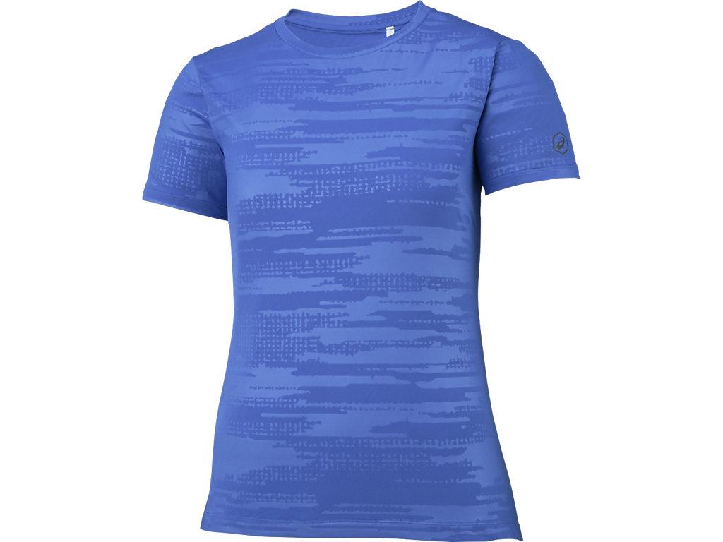 【ASICS/アシックス】 W'SランニングTシャツ ブルーパープル レディース_XXL580