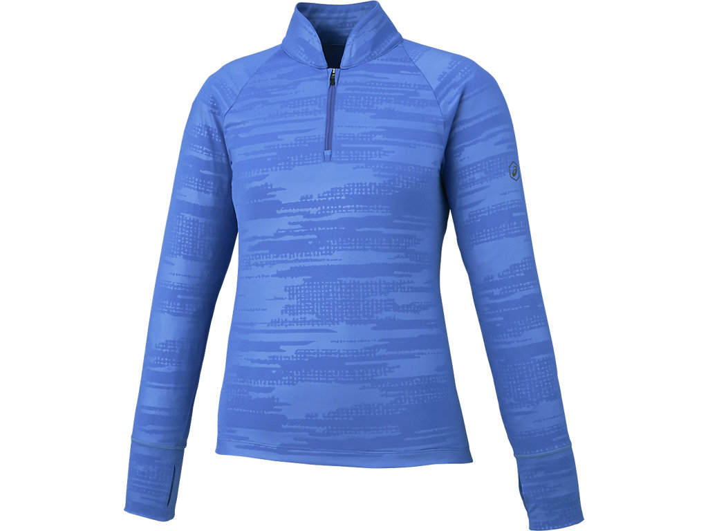 【ASICS/アシックス】 W'Sランニング長袖ハーフジップシャツ ブルーパープル レディース_XXL581