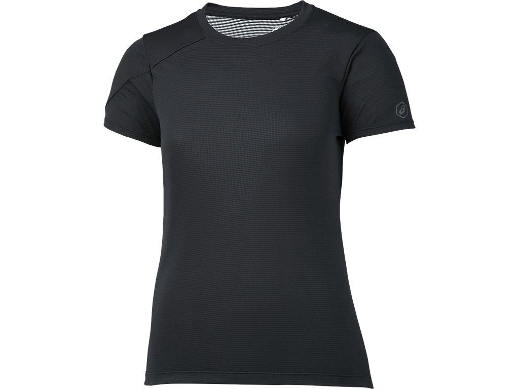 W'SランニングTシャツ:パフォーマンスブラック