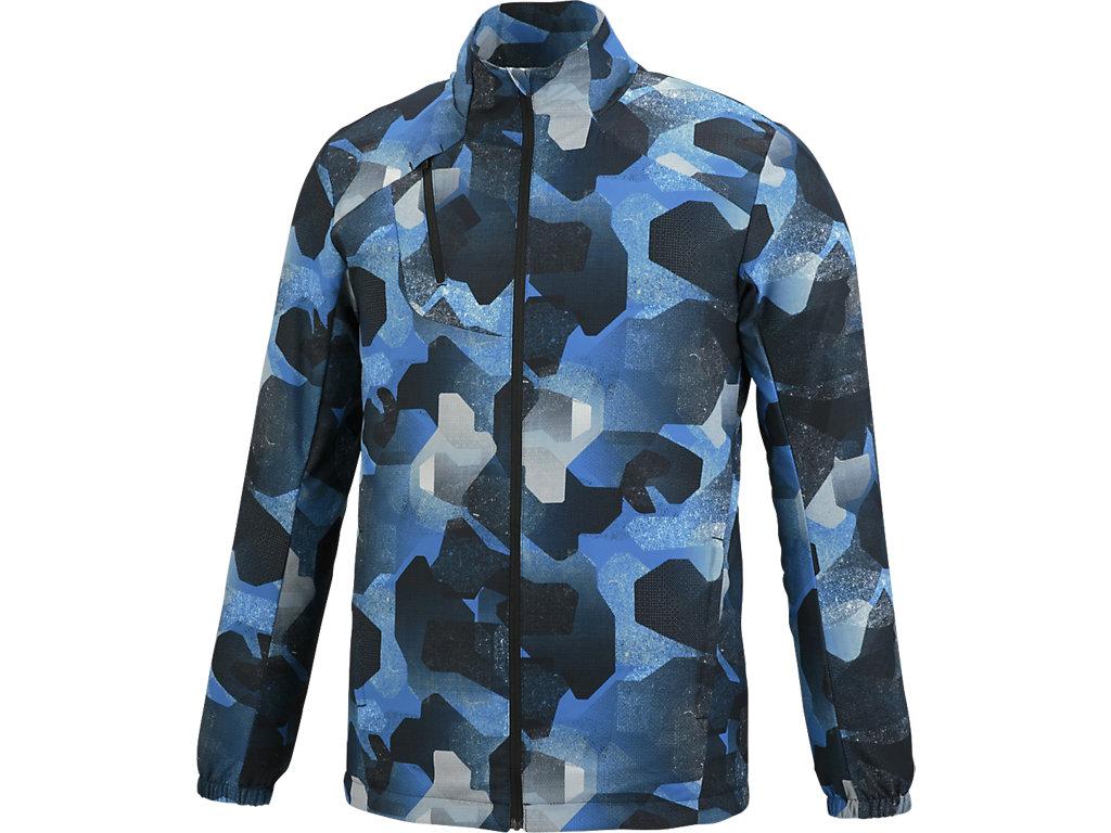 【ASICS/アシックス】 ランニングプリントウインドジャケット カモジオディレクトワールブルー メンズ_XXR323
