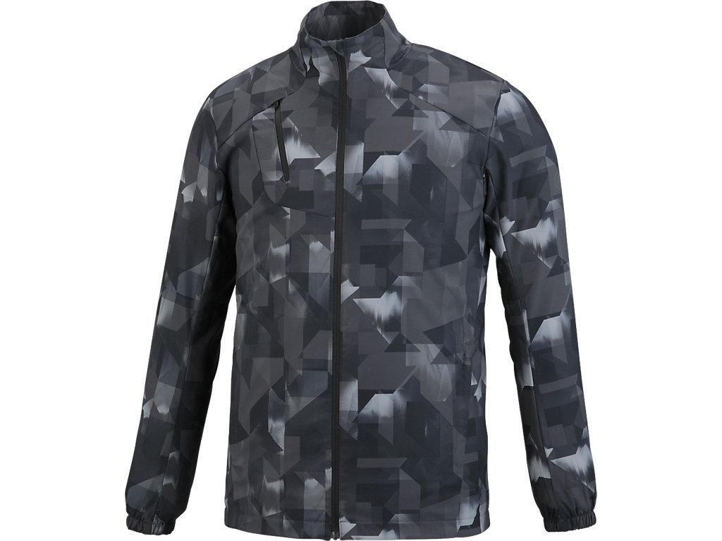 【ASICS/アシックス】 ランニングプリントウインドジャケット ペイントジオパフォーマンスブラック メンズ_XXR323