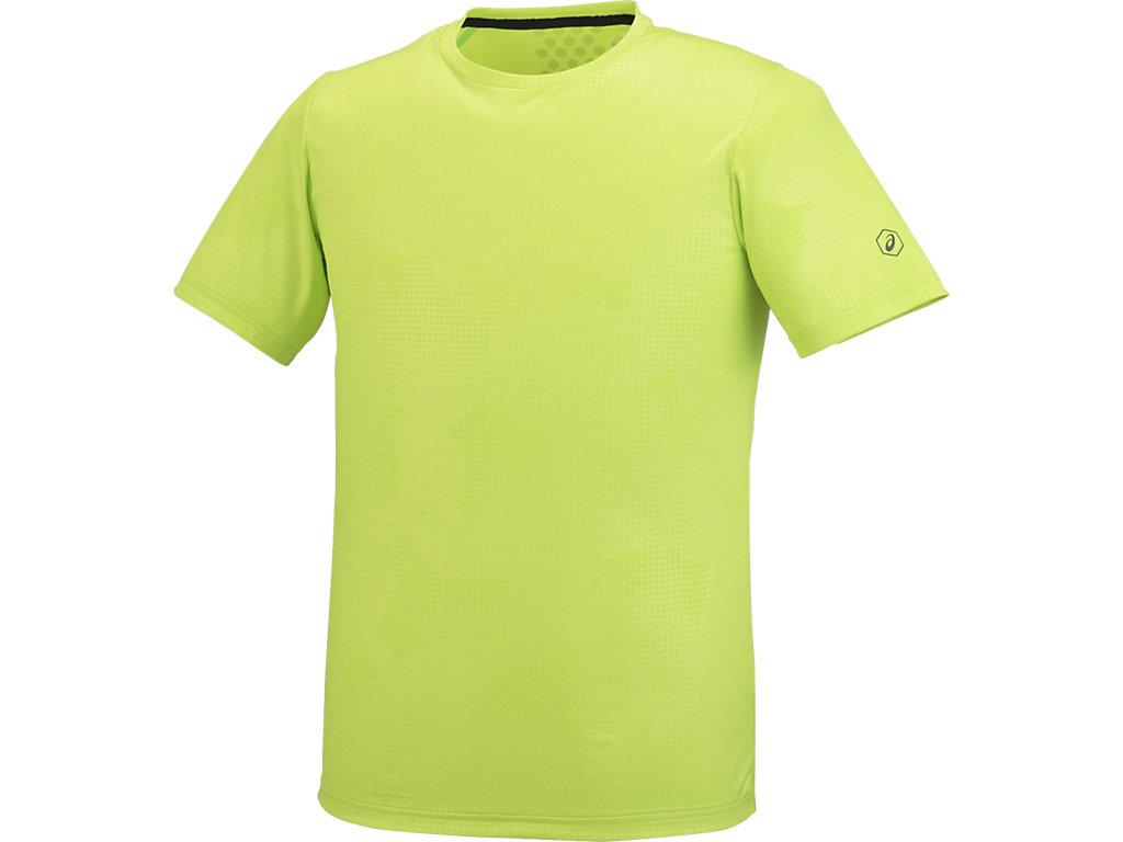 【ASICS/アシックス】 ランニングTシャツ エナジーグリーン メンズ_XXR585