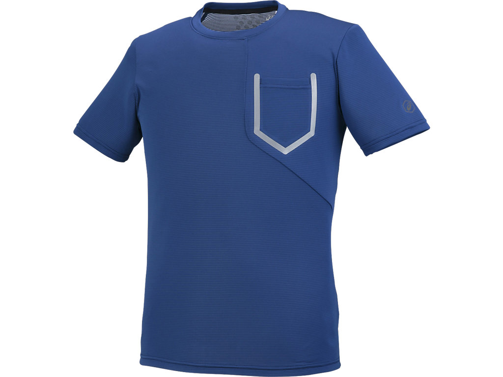 【ASICS/アシックス】 ランニングTシャツ リモージュブルー メンズ_XXR587