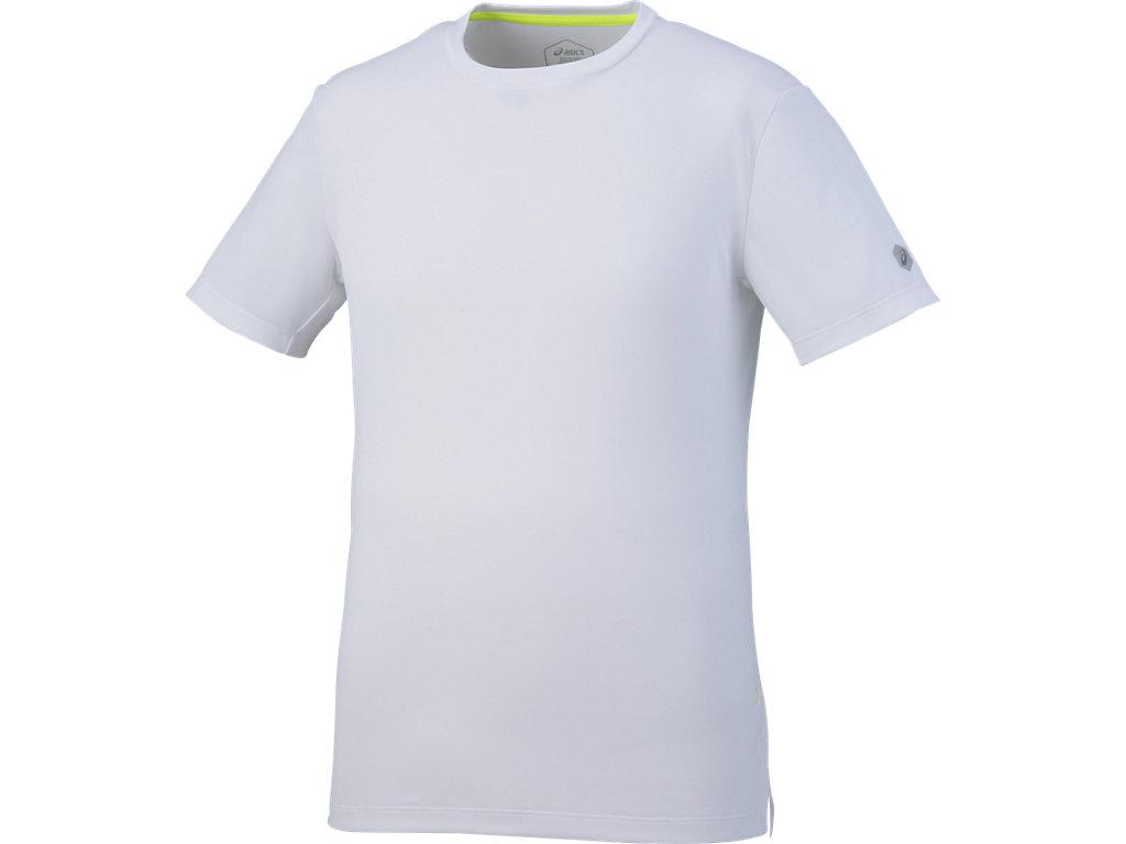 ランニングクールショートスリーブトップ:ブリリアントホワイト