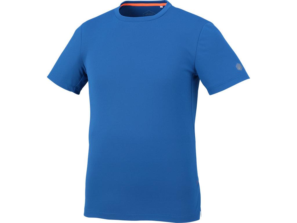 ランニングクールショートスリーブトップ:インペリアルブルー