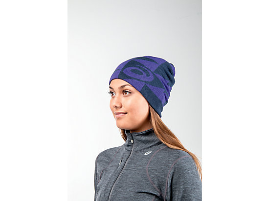 Reversible Knit Beanie Poseidon/Parachute Purple 11