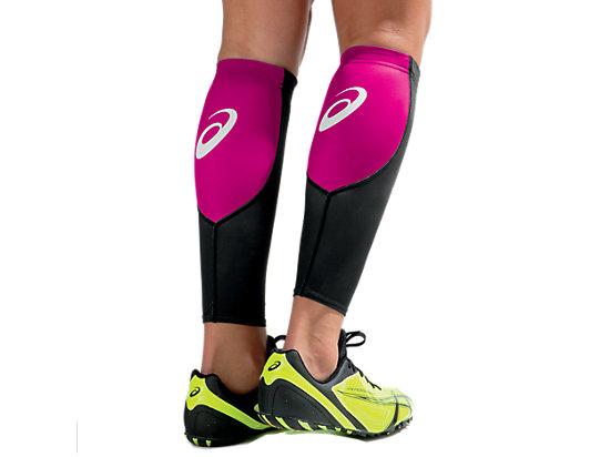 ASICS Blocks Calf Sleeve Pink Glo/Black 3
