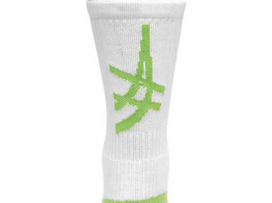 ASICS Stripe Crew White/Neon Green 11