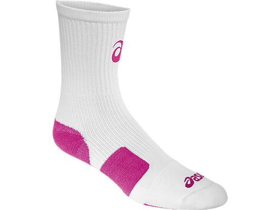 ASICS Stripe Crew White/Pink Glo 3