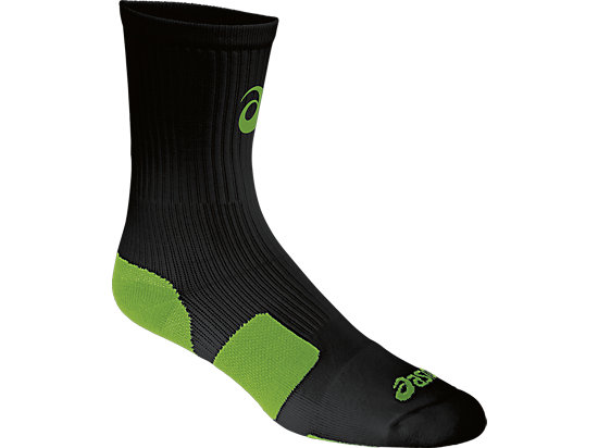 ASICS Stripe Crew Black/Neon Green 3