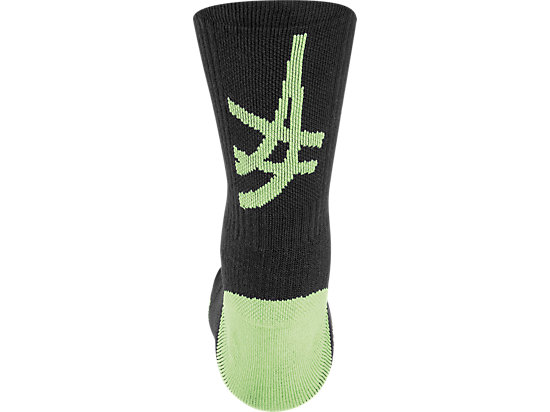 ASICS Stripe Crew Black/Neon Green 11