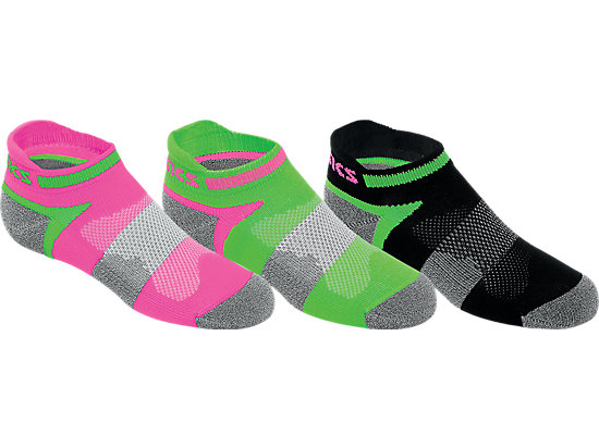 Youth Quick Lyte Cushion Low Cut Knockout Pink Assorted 3