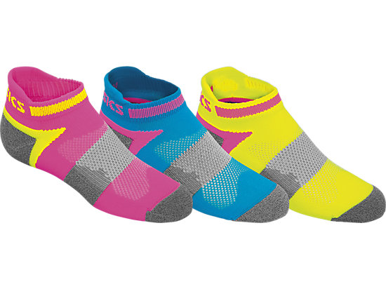Youth Quick Lyte Cushion Low Cut Safety Yellow Assorted 3