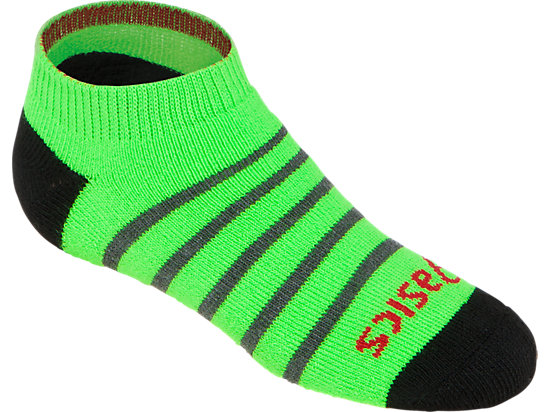 PRF Stripe Youth No Show Socks (3 Pack) Heather Iron Assorted 7