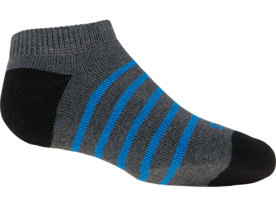 PRF Stripe Youth No Show Socks (3 Pack) Heather Iron Assorted 47