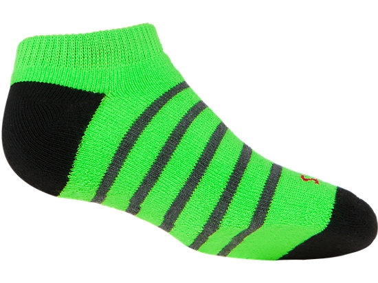 PRF Stripe Youth No Show Socks (3 Pack) Heather Iron Assorted 31