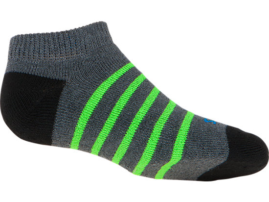PRF Stripe Youth No Show Socks (3 Pack) Heather Iron Assorted 43